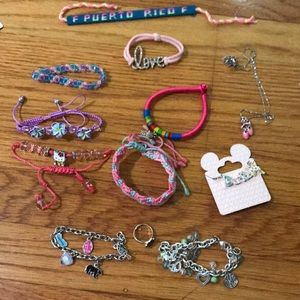 Girls bracelets and necklaces
